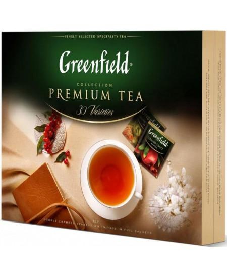 Arbatų rinkinys GREENFIELD 120 vnt.,30 arbatos rūšių.