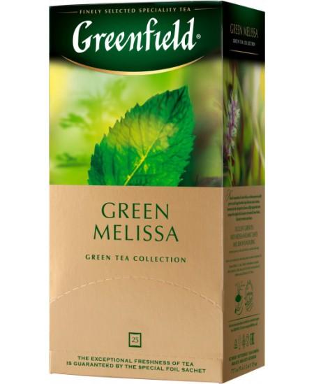 Arbata GREENFIELD GREEN MELISSA, žalioji, 25 vnt.