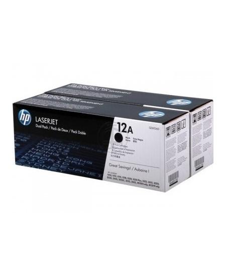 Lazerinė kasetė HP Q2612AD   2 vnt. pakuotė   juoda