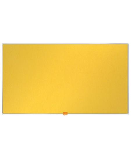 """Skelbimų lenta NOBO, plačiaekranė, 71x40 cm, 32"""", aliuminio rėmas, geltona"""