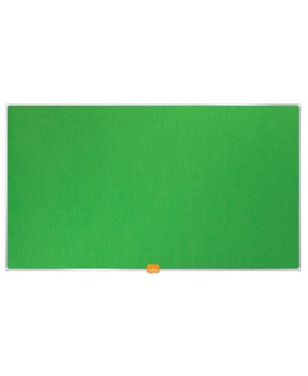 """Skelbimų lenta NOBO, plačiaekranė, 188x106 cm, 85"""", aliuminio rėmas, žalia"""