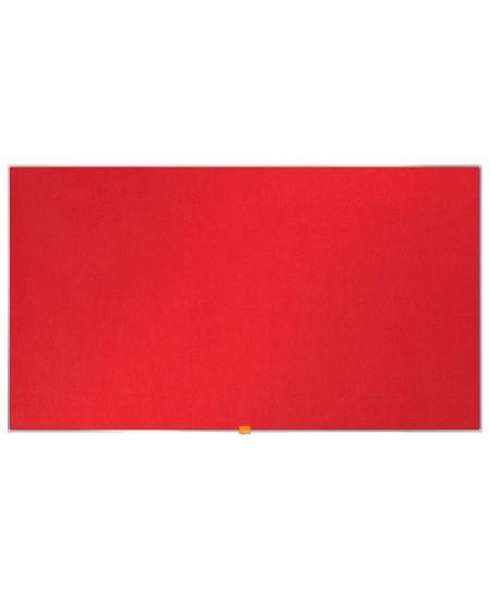 """Skelbimų lenta NOBO, plačiaekranė, 188x106 cm, 85"""", aliuminio rėmas, raudona"""