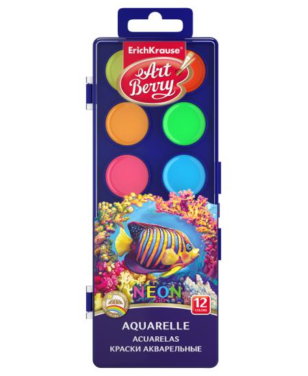 Akvarė ERICH KRAUSE Art Berry Neon, su UV apsauga, ryškios, 12 spalvų