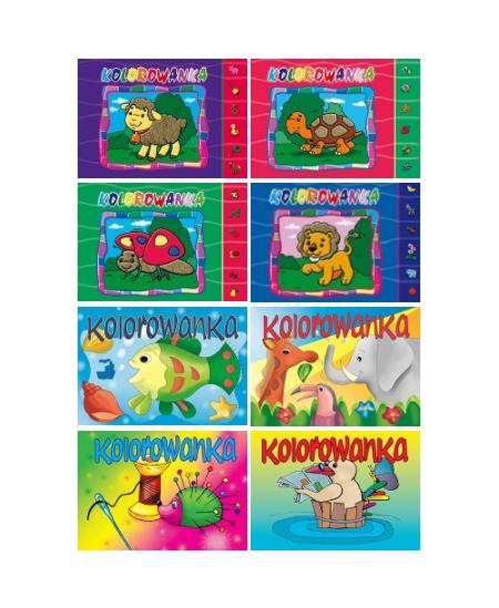 Spalvinimo knygutė KRESKA, 12 lapų, A5