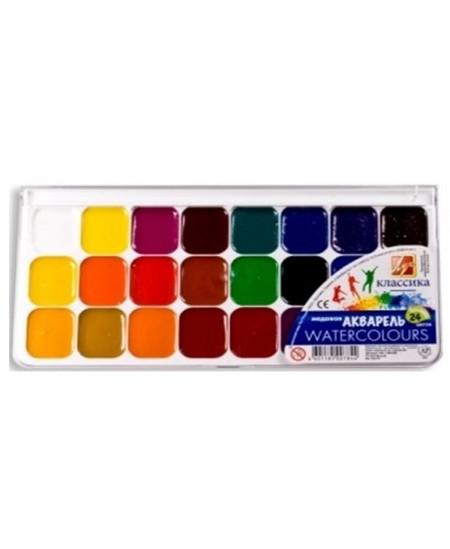 Akvarelė LUČ Klasika, 24 spalvų