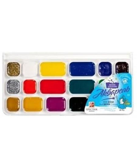 Akvarelė LUČ Prestiž, 18 spalvų