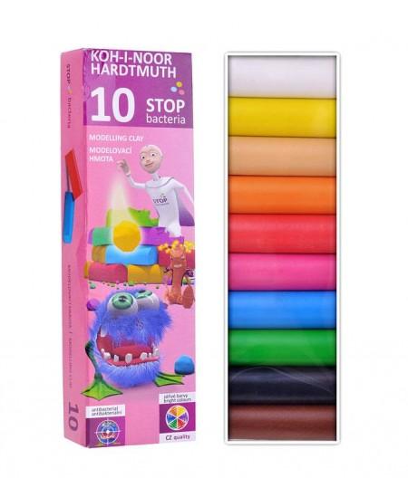 Plastilinas KOH-I-NOOR, antibakterinis, 10 spalvų