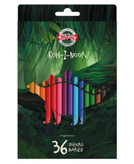 Spalvoti pieštukai KOH-I-NOOR Dino, 36 spalvų
