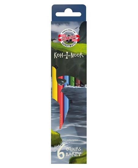 Spalvoti pieštukai KOH-I-NOOR Dino, 6 spalvų