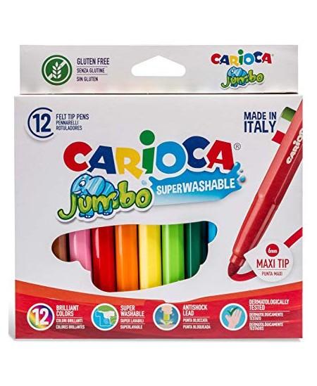 Flomasteriai CARIOCA Jumbo, stori, 12 spalvų