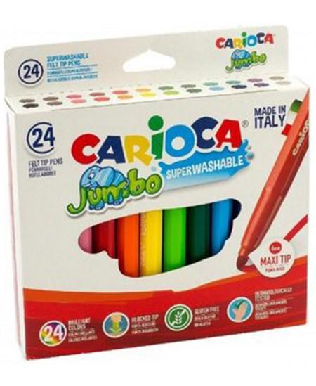 Flomasteriai CARIOCA Jumbo, stori, 24 spalvų