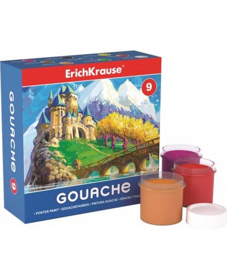 Guašas ERICH KRAUSE Easy, 9 spalvų