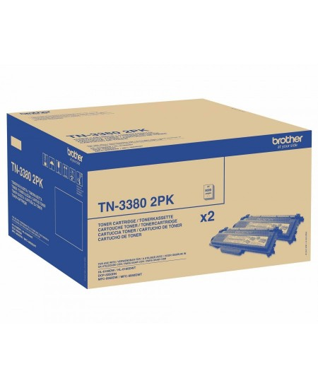 Brother TN3380 cartridge black 2-pack, High Capacity