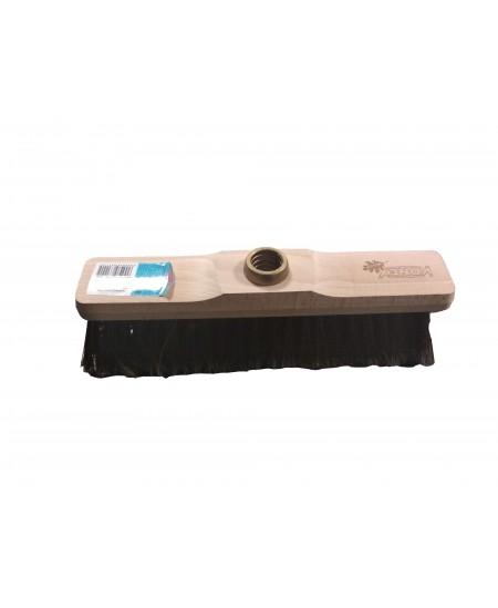 Grindų šluota mediniu pagrindu, be koto, 30 cm