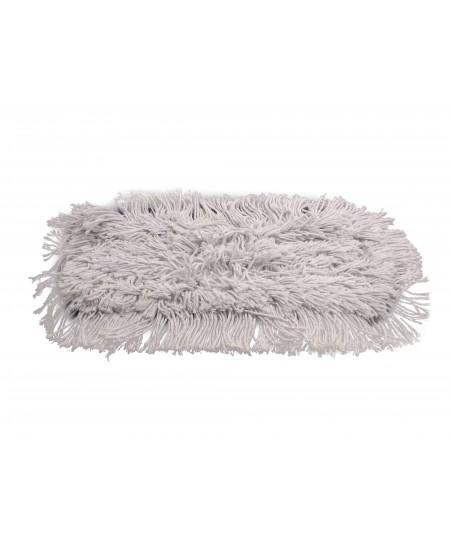 Siūlinė šluostė metaliniam grindų laikikliui, medvilninė, 40 cm, su kišenėlėmis