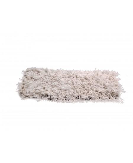 Siūlinė šluostė metaliniam grindų laikikliui, medvilninė, 60 cm, su kišenėlėmis
