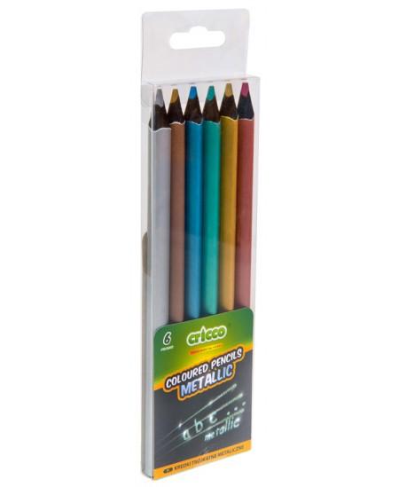 Spalvotų pieštukų rinkinys CRICCO, 6 metallic spalvos