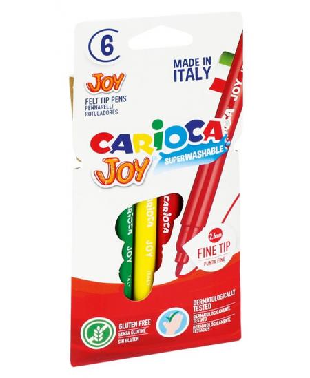 Flomasteriai CARIOCA Joy, 6 spalvų