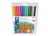 Flomasteriai STAEDTLER Noris Club, 12 spalvų