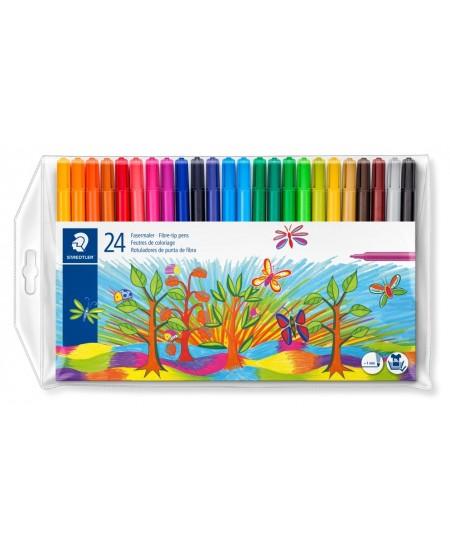Flomasteriai STAEDTLER NORIS CLUB, 24 spalvų rinkinys