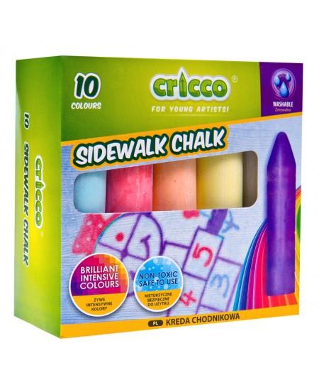 Kreida piešti ant asfalto, 10 vnt., įvairių spalvų