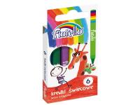 Vaškinės kreidelės FIORELLO, 6 spalvų