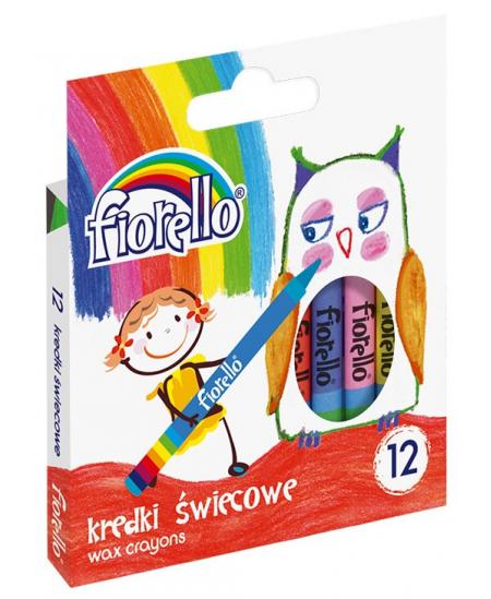Vaškinės kreidelės GRAND FIORELLO, 12 spalvų rinkinys