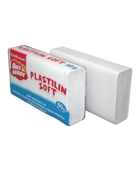 Plastilinas ERICH KRAUSE SOFT, 50 g, baltas