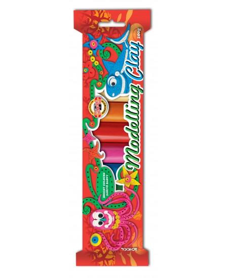Plastilinas KOH-I-NOOR, 10 spalvų