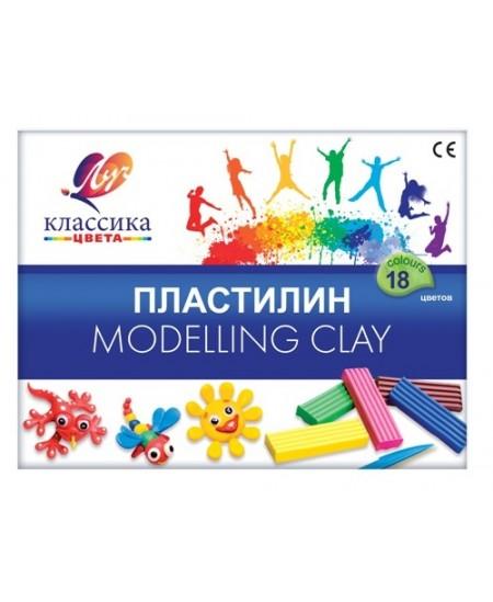 Plastilinas LUČ Klasika, 18 spalvų
