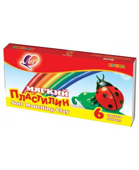 Plastilinas LUČ Kroha, 6 spalvų