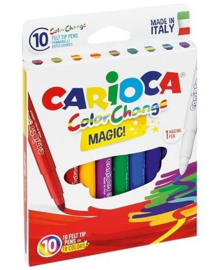 Flomasteriai keičiantys spalvą CARIOCA, 9+1 spalvų