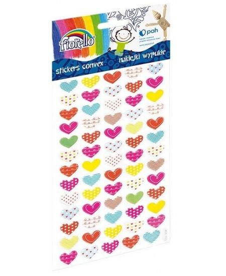 Lipdukai vaikams FIORELLO, įvairių spalvų ir raštų širdelės