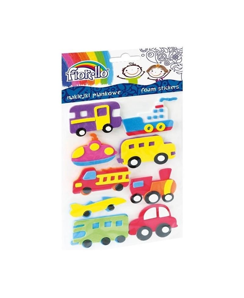 Lipdukai vaikams FIORELLO, 3D transporto priemonės