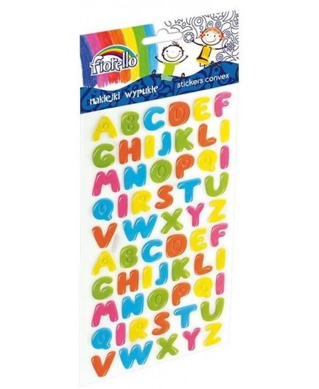 Lipdukai vaikams FIORELLO, įvairių spalvų raidės