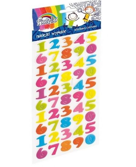 Lipdukai vaikams FIORELLO, įvairių spalvų skaičiai