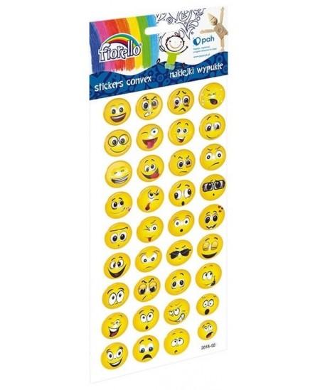 Lipdukai vaikams FIORELLO, įvairių emocijų veidukai