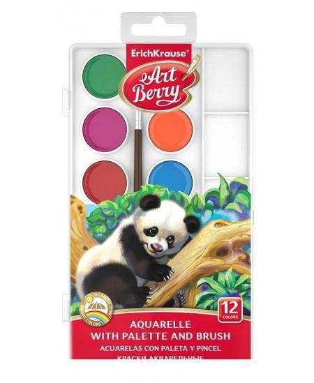 Akvarelė ERICH KRAUSE ArtBerry, su palete ir teptuku, 12 spalvų