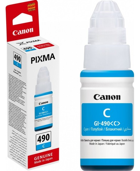 Canon GI-490 ink bottle, cyan