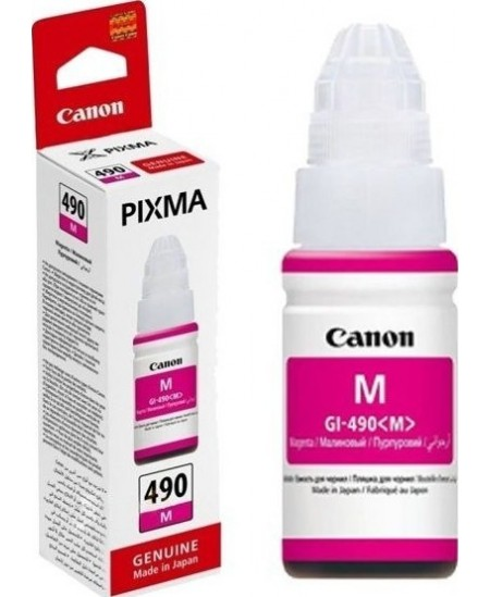 Canon GI-490 ink bottle, magenta