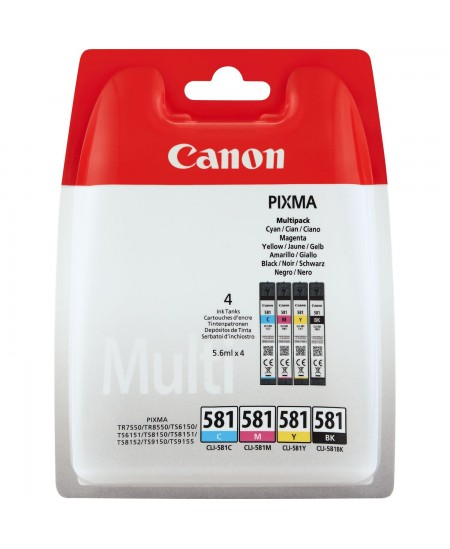 Canon CLI-581 C/M/Y/BK ink cartridge, multipack