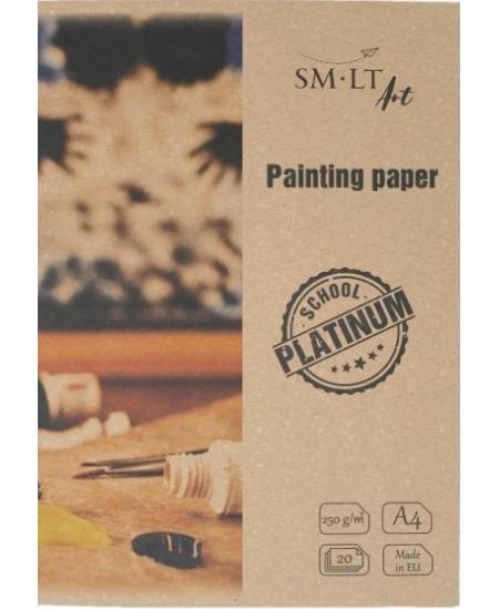 Tapybos popierius aplanke SM-LT Platinum, A4, 250 g/m2, 20 lapų