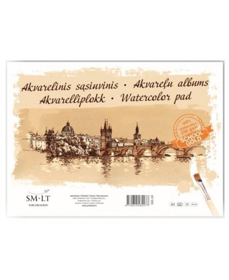 Piešimo sąsiuvinis akvarelei SM-LT, A3, 210 g, 10 lapų