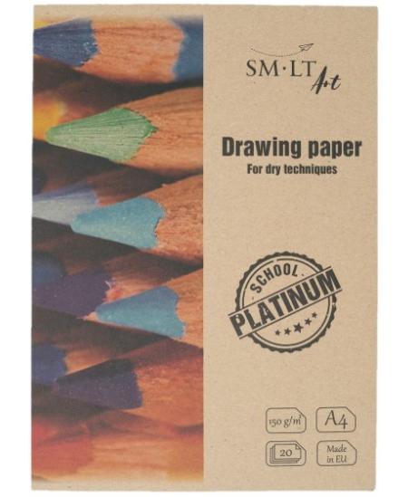 Piešimo popierius aplanke SM-LT Platinum, A4, 170 g/m2, 20 lapų