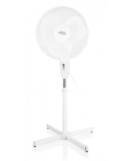 Gallet VEN16S Stand Fan, Timer, Number of speeds 3, 45 W, Oscillation, Diameter 40 cm, White