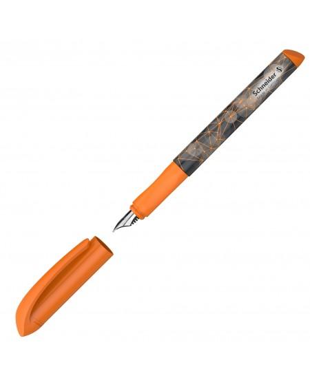 Plastikinis plunksnakotis SCHNEIDER Voice, oranžinis ir pilkas korpusas