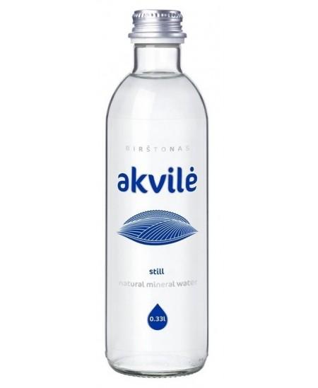 Mineralinis vanduo AKVILĖ, 330 ml, stikle, negazuotas