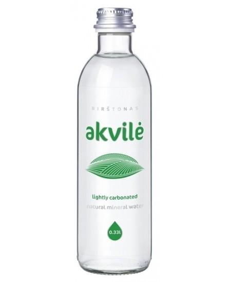 Mineralinis vanduo AKVILĖ, 330 ml, stikle, lengvai gazuotas