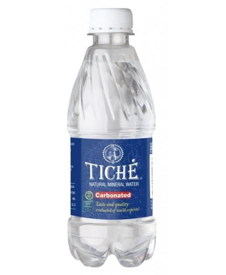 Natūralus mineralinis vanduo TICHE, 330 ml, gazuotas