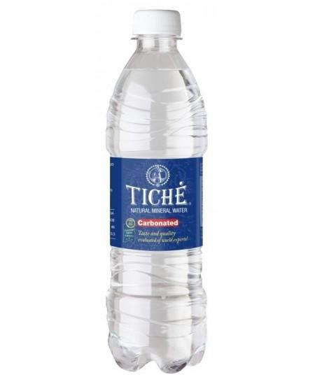 Natūralus mineralinis vanduo TICHE, 500 ml, gazuotas